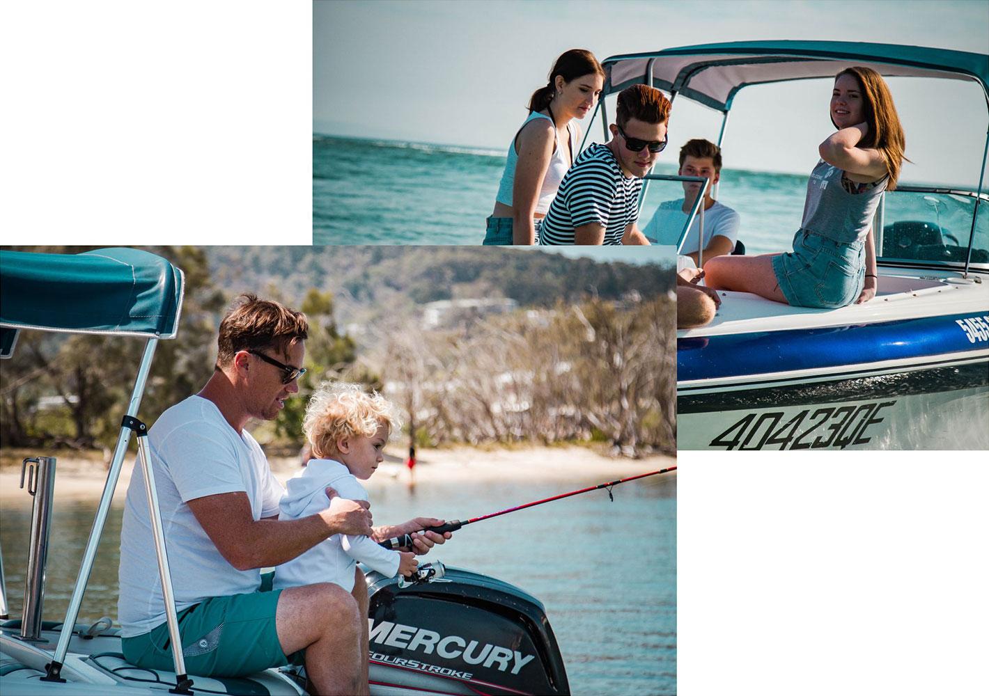 Boat hire activities